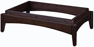 allen + roth Cappuccino Wood Pedestal Base