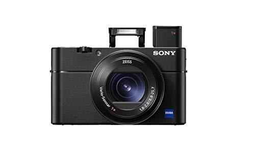 Sony RX100 V   Premium-Kompaktkamera (1,0-Typ-Sensor, 24-70 mm F1.8-2.8-Zeiss-Objektiv, 4K-Filmaufnahmen und neigbares Display)