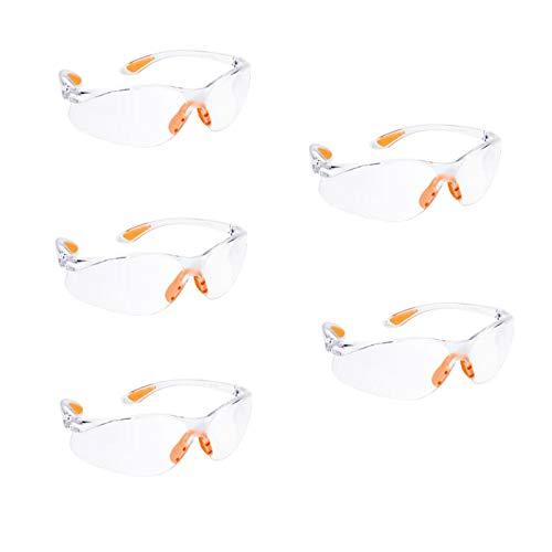 HONGCI 5 Pack Gafas de Seguridad,Gafas Protectoras Para Niños, Batallas de Armas Nerf,Construcción,Bricolaje,Laboratorio, Soldadura,Química,Uso Personal