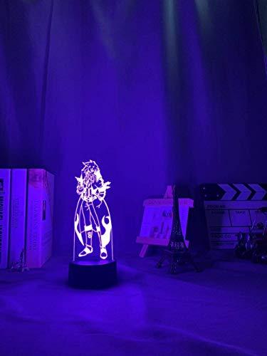 Lámpara de anime 3D para niños, Gurren & Lagann Simon LED noche luz para decoración de dormitorio noche Tengen Toppa Gurren& Lagann acrílico neón para regalo de cumpleaños/Navidad