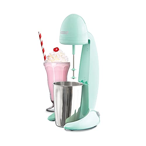 Dash DMM100GBAQ04 Retro Milkshake Maker for Malts, Soda Fountain Drinks, Protein Shakes, Whipping Omelets and Pancake Batter, 2-Speed Settings + Pulse, Recipe Guide Included, 24oz, 24 oz, Aqua