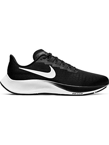 Nike Air Zoom Pegasus 37, Zapatillas para Correr de Diferentes Deportes para Hombre, Negro Blanco, 40.5 EU