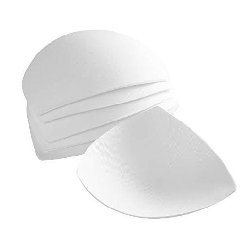 3 Pares de Sujetadores de Almohada para Mujer se Inserta Almohadillas Extraíbles para Mejorar la Taza (Blanco)