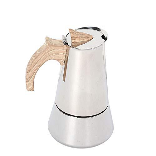MYYINGELE Espressokocher, Edelstahl, Kaffeekocher Espresso Maker Coffee Maker mit Sicherheitsventil, für Vollmundigen Kaffee, Espresso Macht, Geeignet für Induktionskochfelder