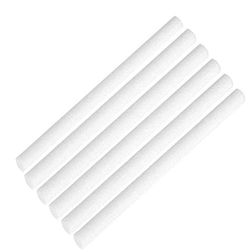 Humidifier Cotton Core Humidifier Sticks Cotton Filter Sticks Refill Sticks Filter Replacement Wicks for Portable Personal USB Powered Humidifiers in Car, Office & Bedroom 0.3X5.3 inches(6 pcs)