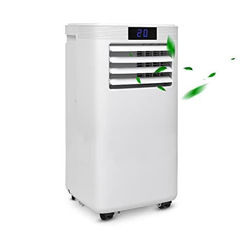 SWANEW Climatizzatore portatile WiFi con guarnizione per finestra, 9000 BTU/h (2,6 kW), raffreddamento 4 in 1, riscaldamento, deumidificazione, ventilazione per ambienti fino a 35 ㎡