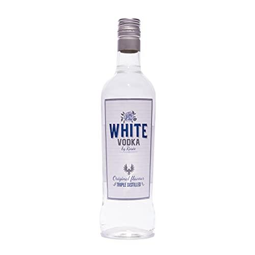 White Vodka Vodka White | Botella Cristal 700m | 37,5°%Vol | Vodka de intenso sabor con matices cítricos | Perfecto para mezclar con otros sabores y realzarlos - 700 ml