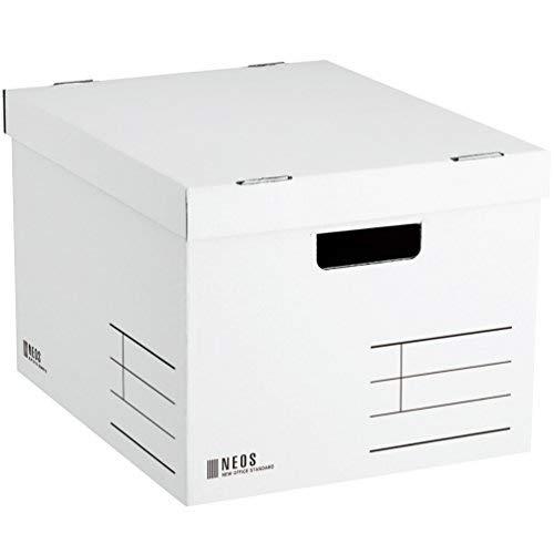 コクヨ 収納ボックス NEOS Lサイズ フタ付き ホワイト A4-NELB-W Japan