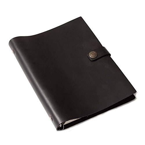 MISDD Cuaderno de Notas La Personalidad de la Vendimia de Papel A5 Piel de Vaca de Hojas Sueltas Cuaderno Diario de Cuero Genuino Caballo Loco Cuaderno de Cuero (Size : A5 220x170mm)
