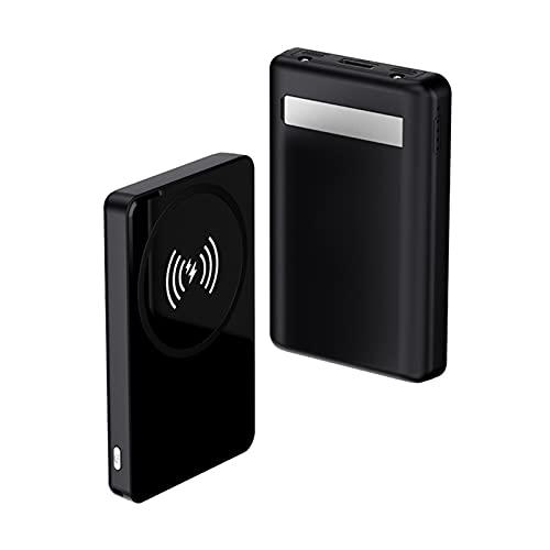 SUYING Banco magnético inalámbrico de 10 W para banco de energía Magsafe Powerbank, adecuado para Iphone12 12mini 12pro Max Mini Pd18w imán de carga rápida, batería externa (Negro)