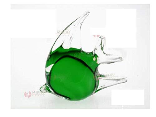 ARTE DEGLI ARGENTI N.1 BOMBONIERA Pesce Luna Tropicale Verde Altezza Cm.11 in Vetro di Murano Made in Italy per Nozze Matrimonio Battesimo CRESIMA 38022