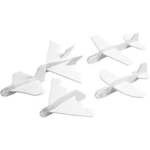 Vliegtuig, L: 8-10 cm, B: 8-10 cm, 5asstd