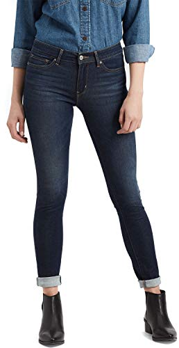 Levi's 711 Skinny Jeans Damen Schwarz/metallgrau - DE 36/38 (US 29/32) - Röhrenjeans