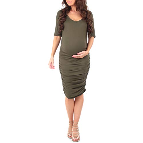 Women's Super Soft Side Ruched Maternity Dress by Mother Bee - Made...
