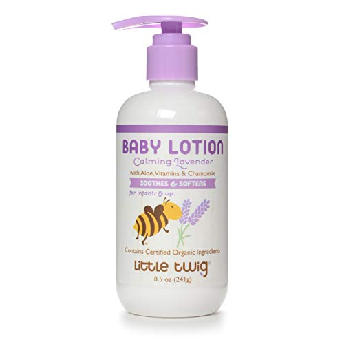 Little Twig All Natural Body Milk for Sensative Skin, Lavender, 8.5 Fluid Oz