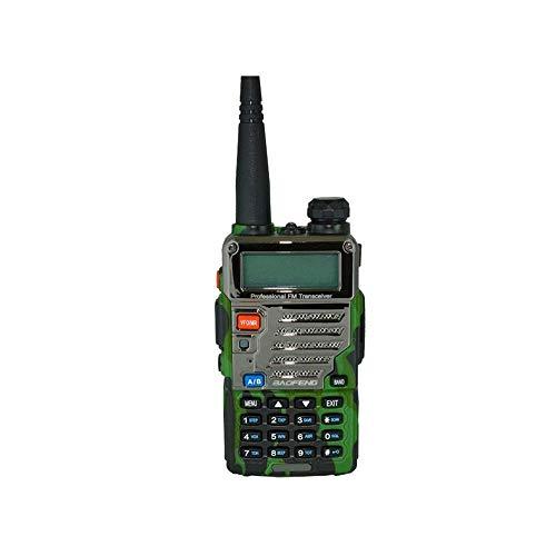 MDHDGAO 5W de Alta Potencia de walkie Talkie de Doble Banda VHF/UHF con LED de visualización 128 de Memoria de Canal con luz Intermitente de Alarma y función de Radio, for la construcción de sitios