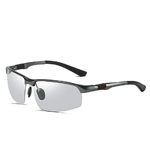 U/A Sport Radfahren Aluminium Magnesium Helle Farbe ändernde polarisierte Sonnenbrille