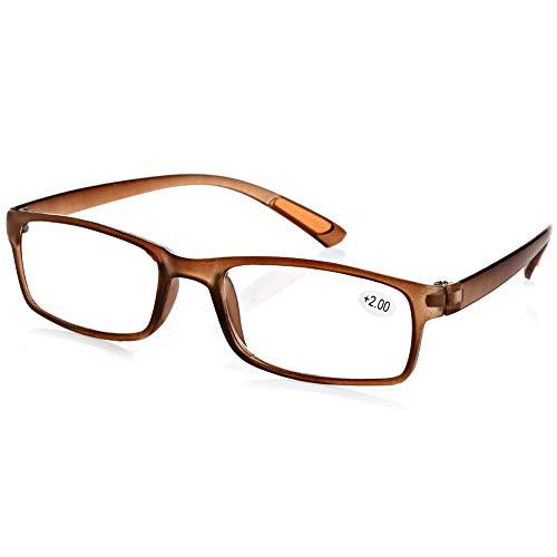 Harzgerahmte Lesebrille Unisex Reading Glasses Presbyopische Brille für Herren Damen 1.0 1.5 2.0 2.5 3.0 3.5 4.0 Dioptrien