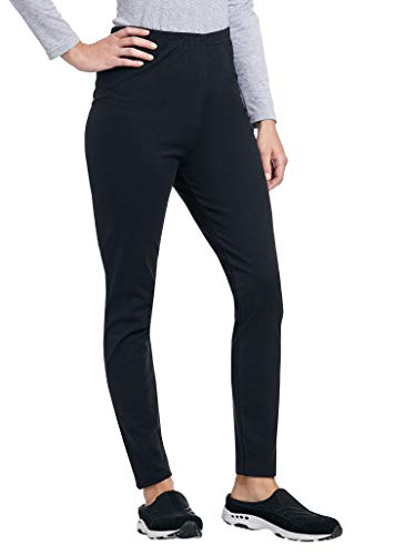 AmeriMark Cotton Knit Stretch Long Length Comfortable Legging Black SP