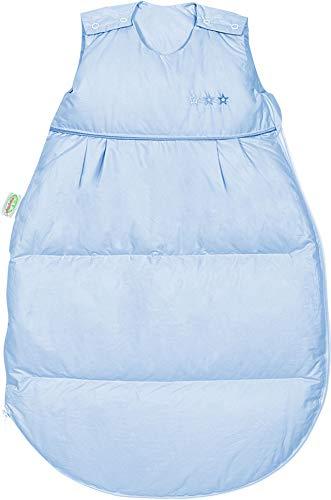 Set Odenwälder Daunen-Schlafsack mit Stoffwindel von Kinderhaus Blaubär/Baby Winterschlafsack mit Premiumdaunen & atmungsaktiv & längenverstellbar, Größe:110, Design:hellblau