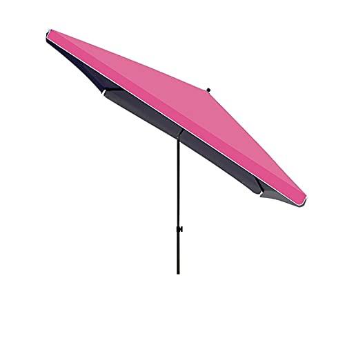 LHQ-HQ Paraguas De Patio De 300x300cm, Paraguas De Exterior con Botón Inclinable Paraguas Rectangulares para Jardín,Burgundy