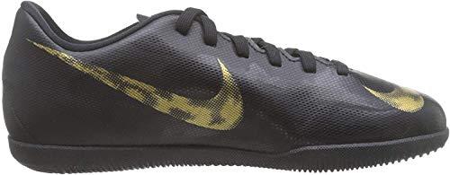 Nike Unisex-Kinder VaporX XII Club TF Fußballschuhe, Schwarz (Black/MTLC Vivid Gold 077), 36 EU
