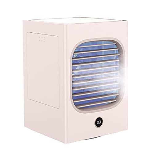 HJUIK Ventilador Refrigerado por Agua Escritorio Portátil Ventilador Pulverización Mini Ventilador Enfriamiento Ventilador Aire Acondicionado Doméstico (Color : Pink)