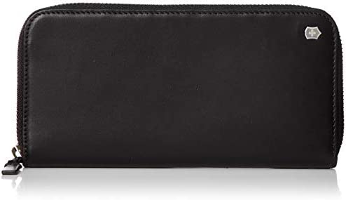 Victorinox Altius Edge Turing Zippered Deluxe Clutch Wallet w RFID Black Leather One Size product image