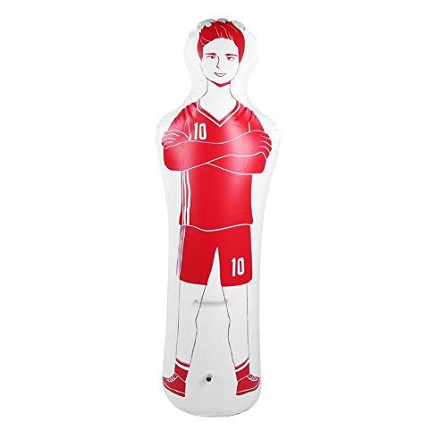 Alomejor 1.6m Inflable de Entrenamiento de fútbol simulado de Tiro Libre Defender Wall 0.35m Saco de Boxeo de PVC para prácticas de fútbol y Entrenamiento de Boxeo(Rojo)