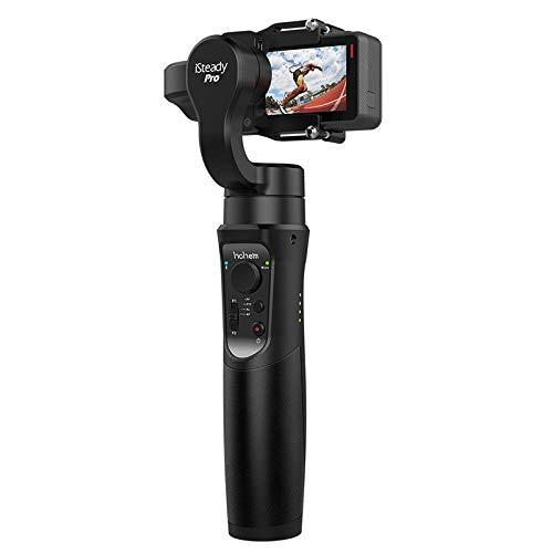 Handheld Gimbal Stabilizer for Sports Action DV Camera, Pro 3-Axis Gimbal Tripod Stick with Motion Time-Lapse, Tracking, Auto Panoramas APP Control Compatiable with Gopro Hero 7 6 5 4 3 SJ CAM YI Cam