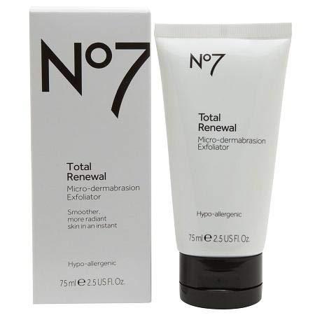 No7 Total Renewal Micro-dermabrasion Face Exfoliator smoother radiant skin