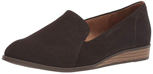 Dr. Scholl's Shoes Women's Devyn Loafer Flat, Chocolate Brown Smooth, 8 M US