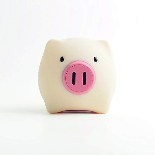 MegaLight Baby Stillicht dimmbar mit Akku – PIGGY PIG LED Schwein Nachtlicht für Kinder – Nachttischlampe aufladbar – Touch Lampe