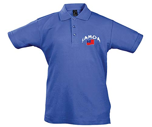 Supportershop Polo Rugby Samoa Mixte Enfant, Bleu, FR : 2XL (Taille Fabricant : 12 Ans)