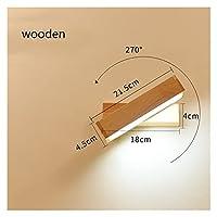 壁灯 木製のシンプルなランプの創造的な屋内ウォールライトLEDの寝室のベッドサイドの装飾ノルディックデザインリビングルームホテル回転ウォールランプ (Color Temperature : White light, Lampshade Color : A)