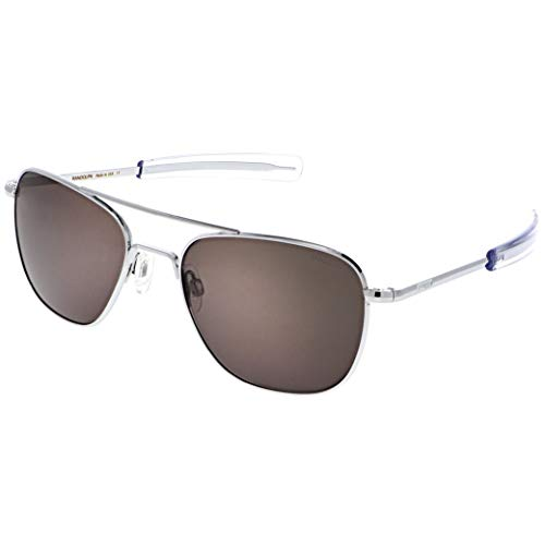 Randolph USA | Bright Chrome Classic Aviator Sunglasses for Men or Women Non-Polarized 100% UV