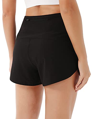 JOYSPELS Sport Shorts Damen Sommer, Kurze Sporthose Damen Laufhose Kurz Jogginghose Hose, Schwarz L