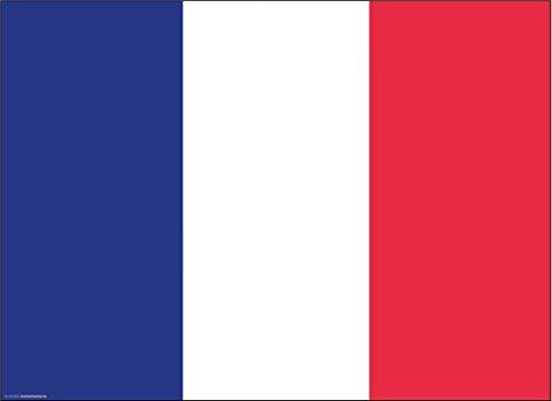 Tischsets | Platzsets - Frankreich Flagge - 10 Stück - hochwertige Tischdekoration 44 x 32 cm für französischen Flair, Mottopartys & Fanabende