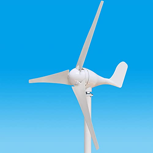 DAXINYANG Generatore Eolico a 3 Pale da 200-500 W, per Nautica, Camper, casa, Combinazione di generatori eolici con Sistema Eolico Solare Ibrido,400W