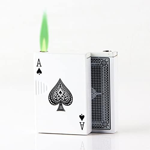 Rifibrible Butane Buster Deck of Carte a forma di torcia Accendino Jet Torch Turbo Accendino Accendino D' allare Light Playing card Butane Accendisigari antivento Accendisigari usato for fumare accen