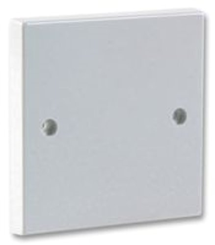 rhinocables Electrical Blanking Dummy Plate 1 Gang - White Gloss Plastic Finish (Single)