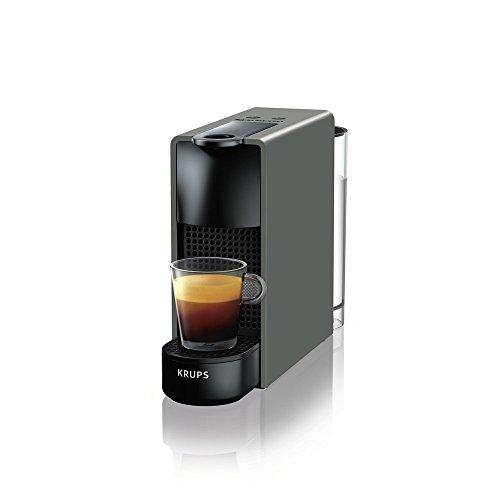 Krups Nespresso XN110B Essenza Mini Kaffeekapselmaschine, 1260 Watt, grau, 0,7 Liter
