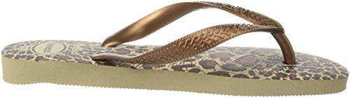 Havaianas Top Animals, Chanclas Mujer, Multicolor (Sand Grey/Dark Cooper 9413), 37/38 EU