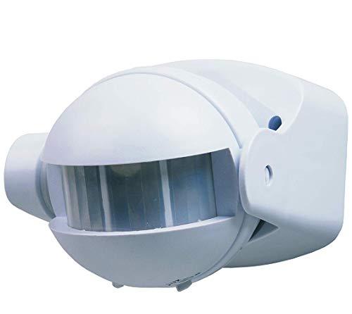Détecteur de présence à LED, capteur mural avec surface orientable 180 degres. Compatible LED Interrupteur automatique par mouvement 300 W