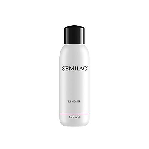 Semilac Remover Nagellackentferner | 500 ml | Für Hybridlack | Mit Aceton und Lanolin | Professioneller UV LED Nagellack Reiniger für Maniküree und Pediküre | Dermatologisch Getestet