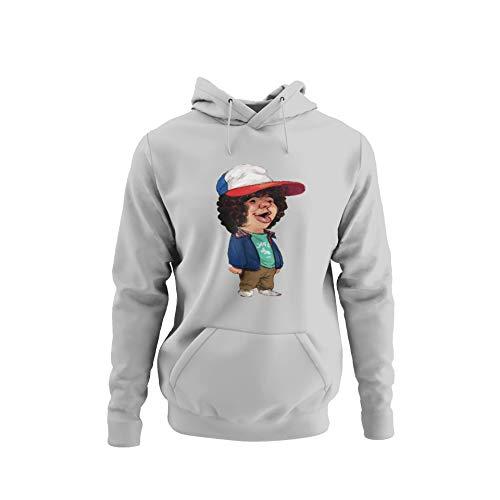 BlackSweatshirt Dustin Stranger Things Logo Sudadera con Capucha M STR12