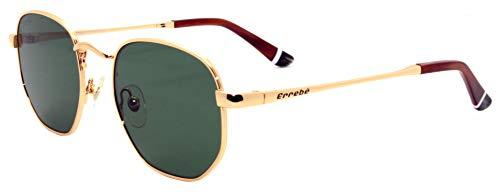 Errebé Nigul 001/05, Gafas de Sol Hexagonales en metal de alta calidad libre de Niquel, Color Gold, Con Proteccion UV400