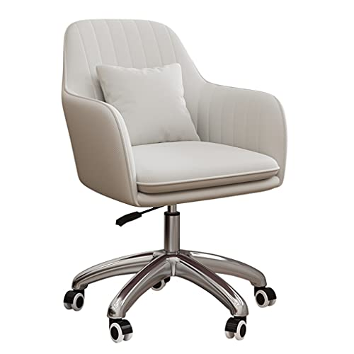 SYN-GUGAI Samt Schreibtischstuhl, Flauschiger Stuhl Für Mädchen, Makeup Vanity Chair, Moderner Computer-Bürostuhl Mit Rädern, Höhenverstellbarer Drehbarer Akzentstuhl Für Schlafzimmer Wohnzimmer