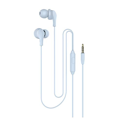 TeaBoy in-Ear Headphones,Wired Stereo HiFi Earphones with MIC,3.5mm Jack Noise Isolating,Dual Dynamic Drivers,Earbuds Compatible with iPhone 6 Plus,Galaxy S9/S9+ S8 S7 S6,Android Smartphone,Tablet