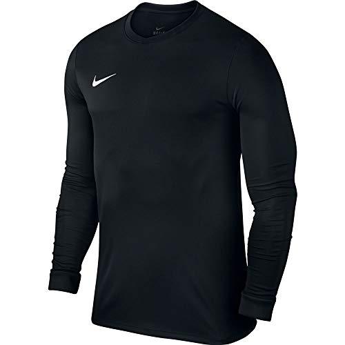 Nike LS Park VI Jsy - Camiseta para hombre con mangas largas, color negro / blanco, talla M